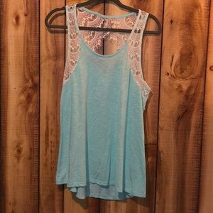 Vanity tank top with lace